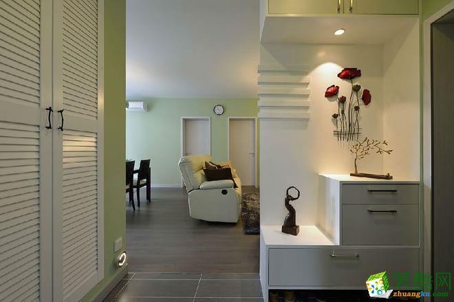 西安东宫装饰-现代简约三居室装修效果图
