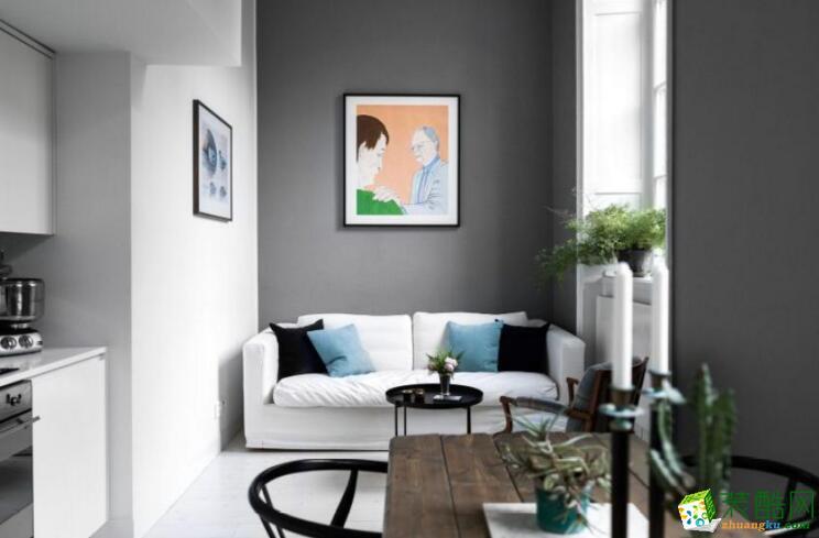 【业之峰装饰】龙城国际,现代简约风格三居室装修案例图
