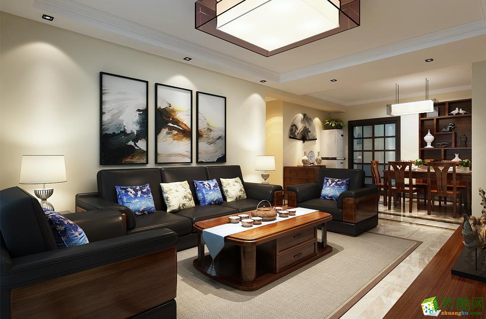西安快一步装饰-中式两居室装修效果图