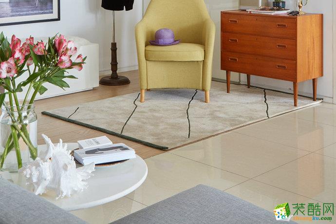 簡約歐式風格小戶型白色客廳設計圖賞