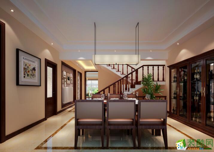 【成都龙发装饰】中式风格别墅住宅,165平米装修案例图