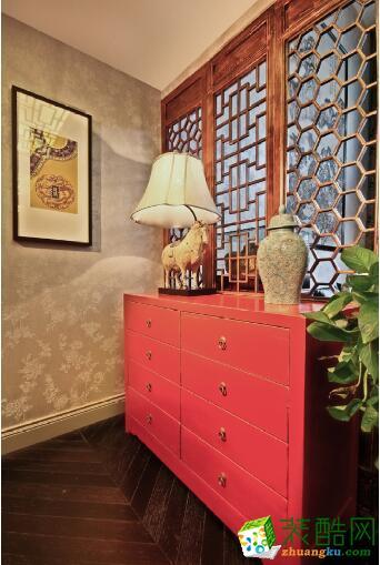 【成都家和装饰】中式风格三居室108平米装修案例图
