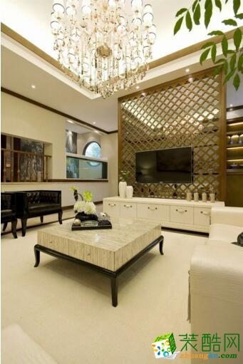 新中式风格别墅住宅装修案例图