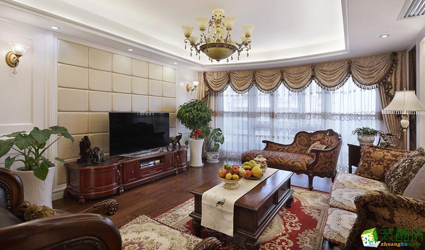 140平歐式古典三居室裝修效果圖