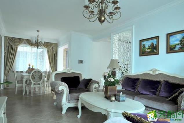 长沙苹果装饰-欧式四居室装修效果图