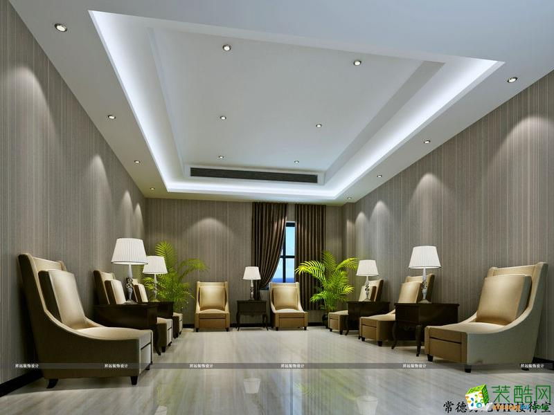 长沙�N远装饰-现代办公室装修效果图