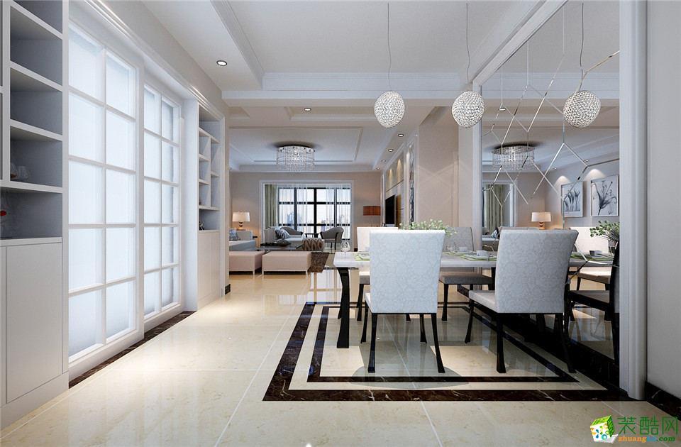 西安艺彩空间装饰-现代简约两居室装修效果图