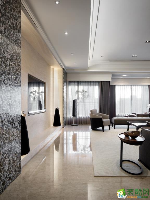 西安东宫装饰-现代简约四居室装修效果图