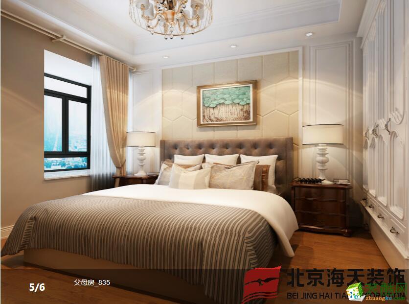 海天装饰―招商江湾国际148�O美式风格案例