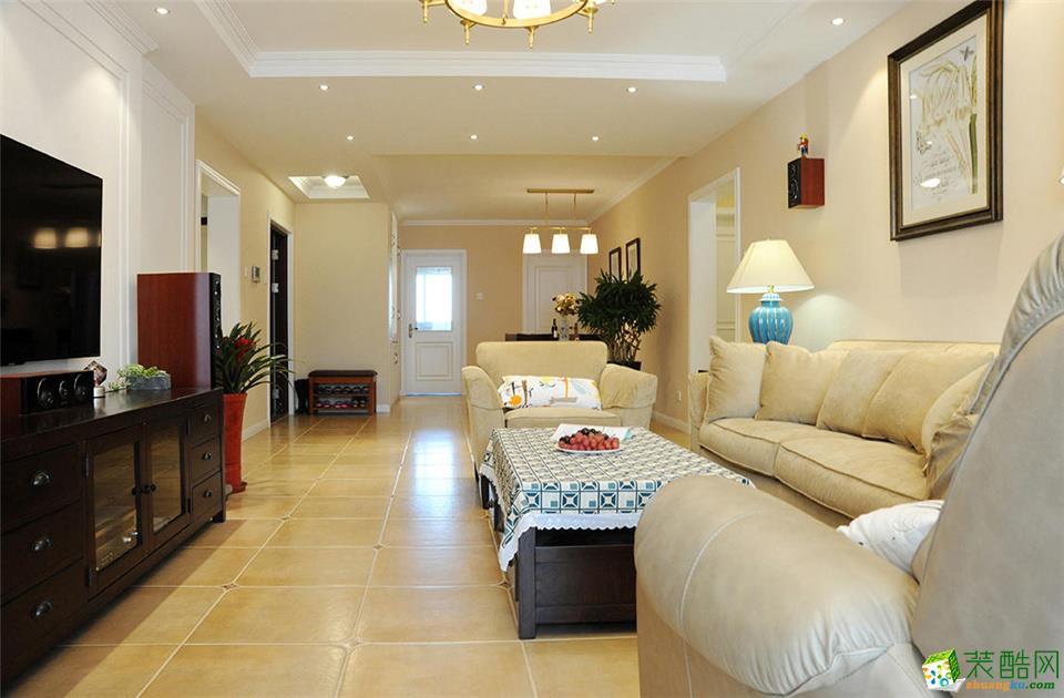 西安都市经典装饰-美式三居室装修效果图