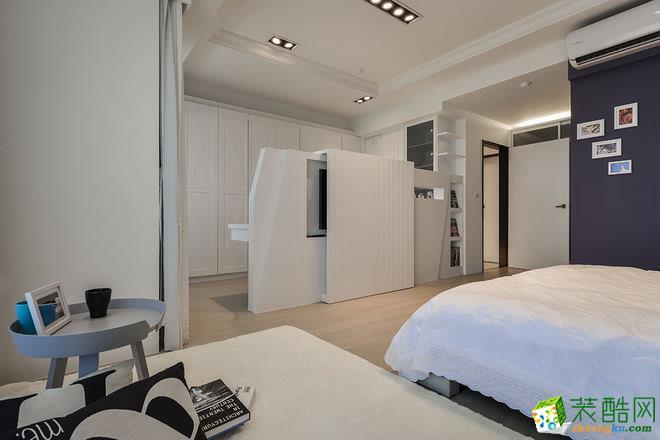长沙家盟科技-现代简约两居室装修效果图