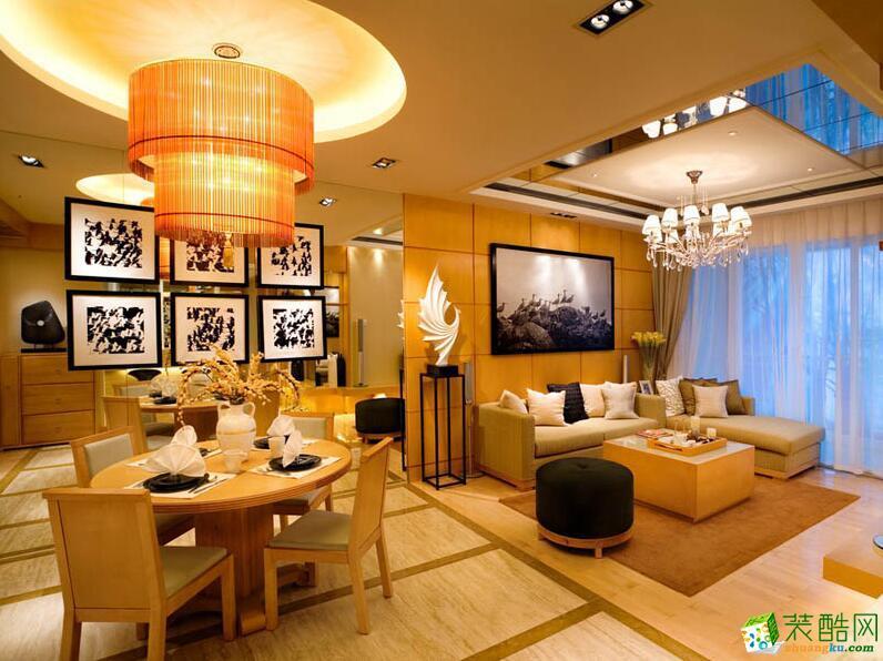 【易美家居装饰】98平米三室两厅一卫装修案例图