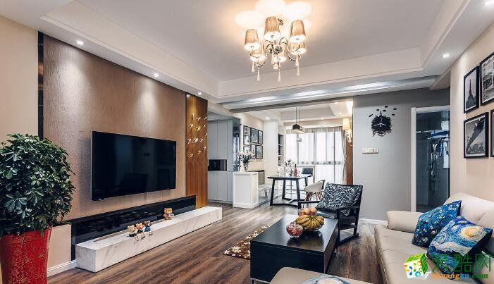 西安朗汇装饰-御锦城混搭三居室装修效果图