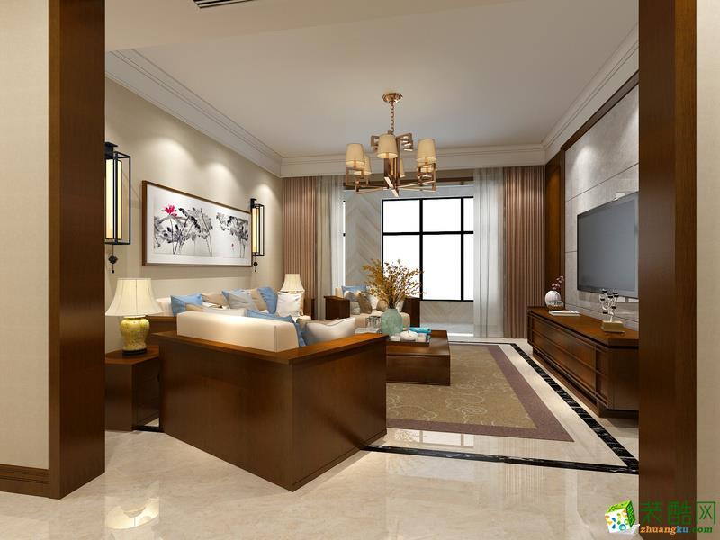 西安格欣装饰-新中式三居室装修效果图