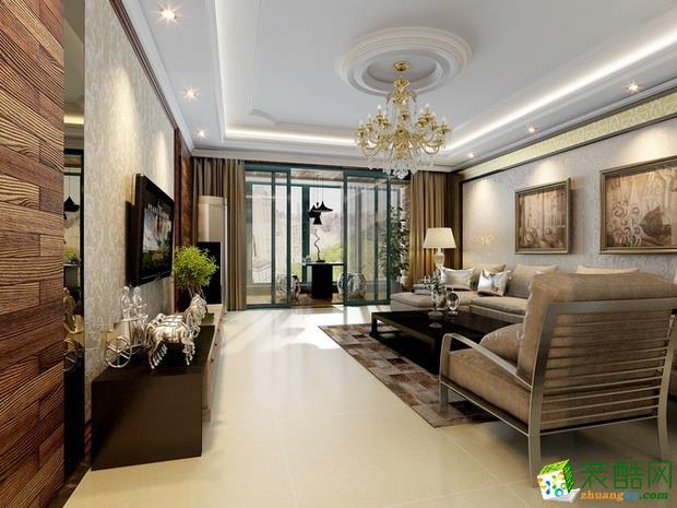 西安昊宏装饰-现代简约三居室装修效果图