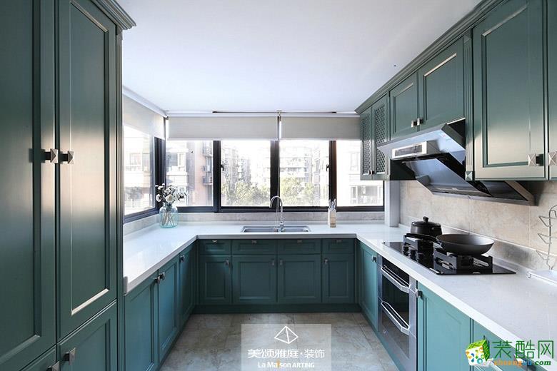 厨房  _****_装饰―焦糖玛奇朵220平美式风格装修案例