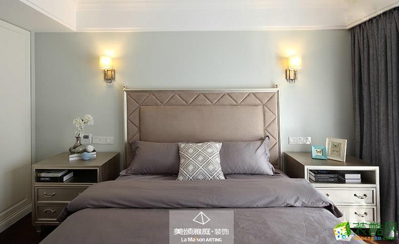 卧室  _****_装饰―焦糖玛奇朵220平美式风格装修案例