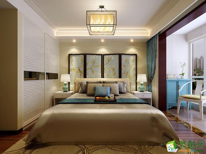 西安保艺装饰-新中式三居室效果图