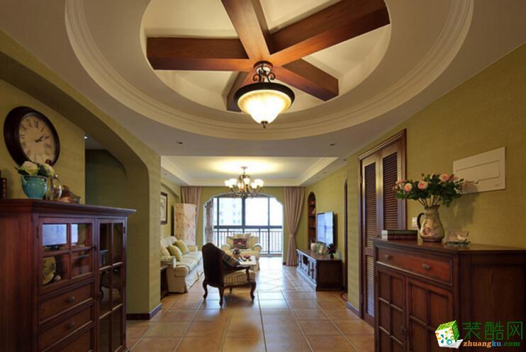 【家和装饰】田园风格113平米三居室装修案例图