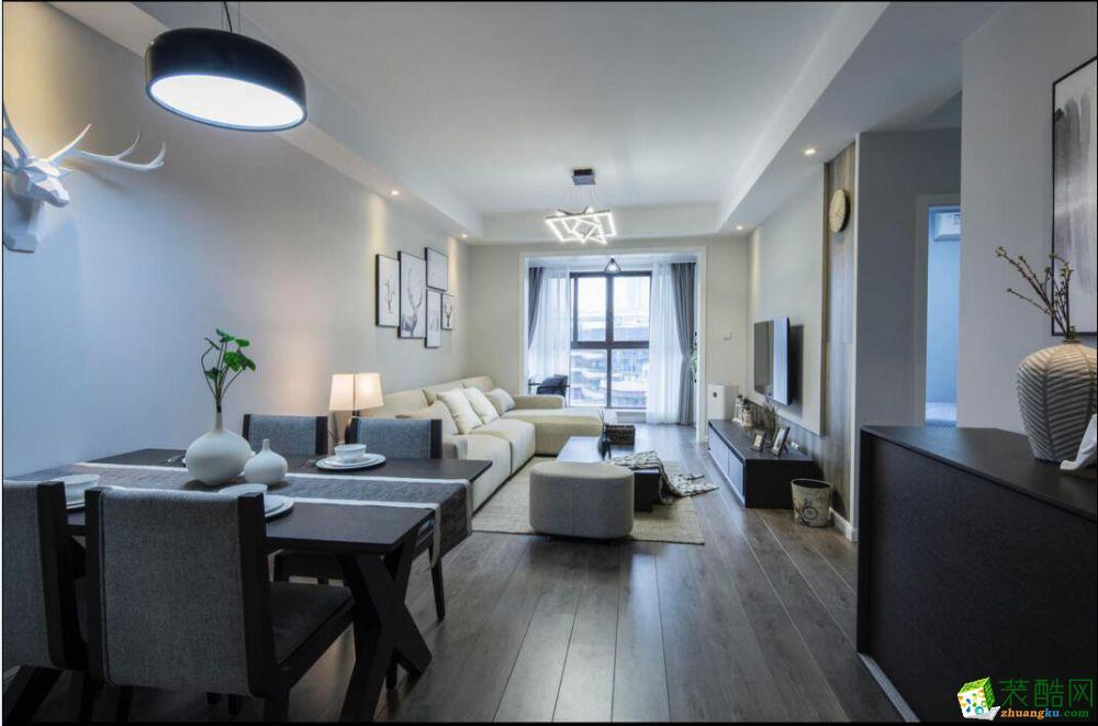 西安峰光无限装饰-现代简约两居室装修效果图