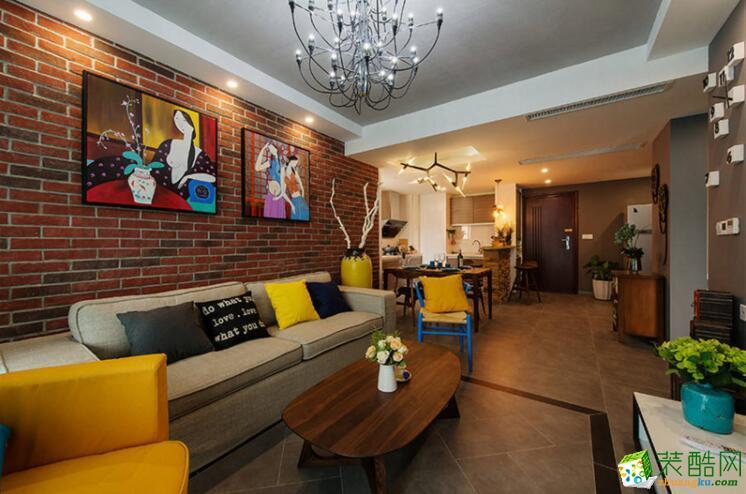 【丰立装饰】80平米混搭风格三居室装修案例图