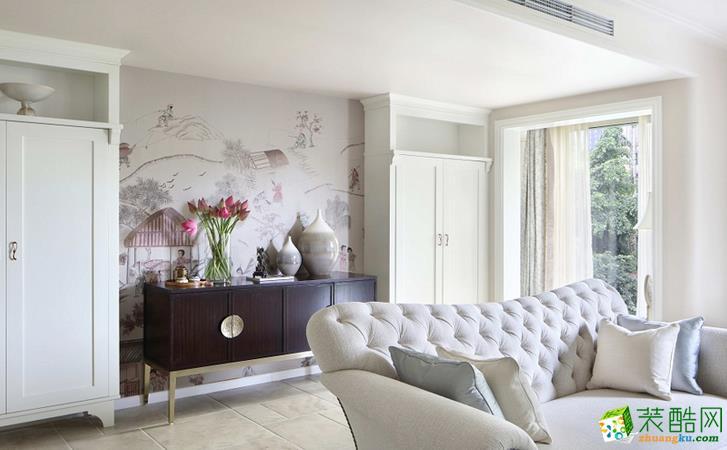 长沙觅糖装饰-美式三居室装修效果图