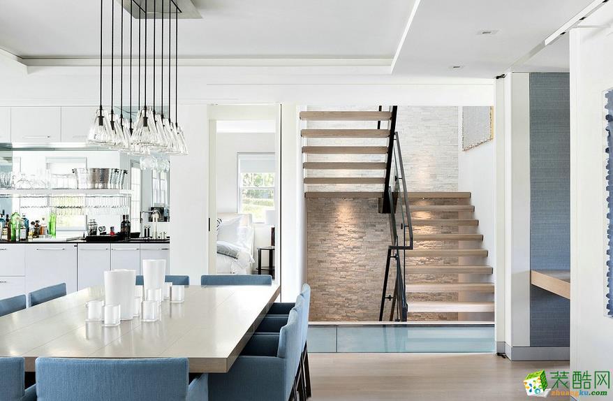 現代歐式風豪華別墅客廳沙發圖