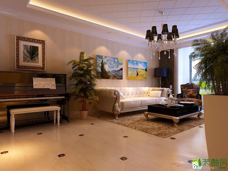 西安兴唐装饰-欧式两居室装修效果图