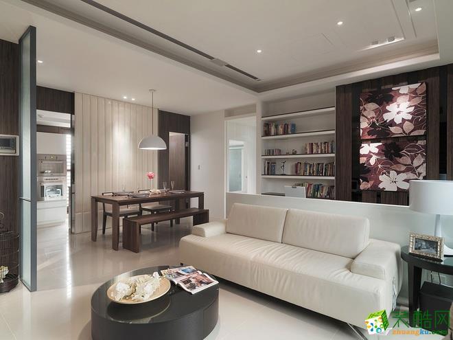 长沙华浔品味装饰-现代简约三居室装修效果图
