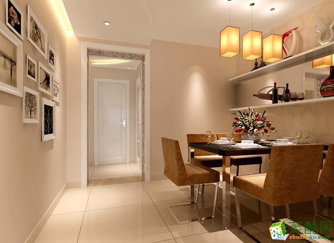 长沙峰上大宅装饰-现代简约两居室装修效果图