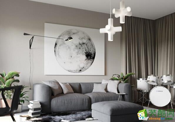长沙点石家装-现代简约两居室装修效果图