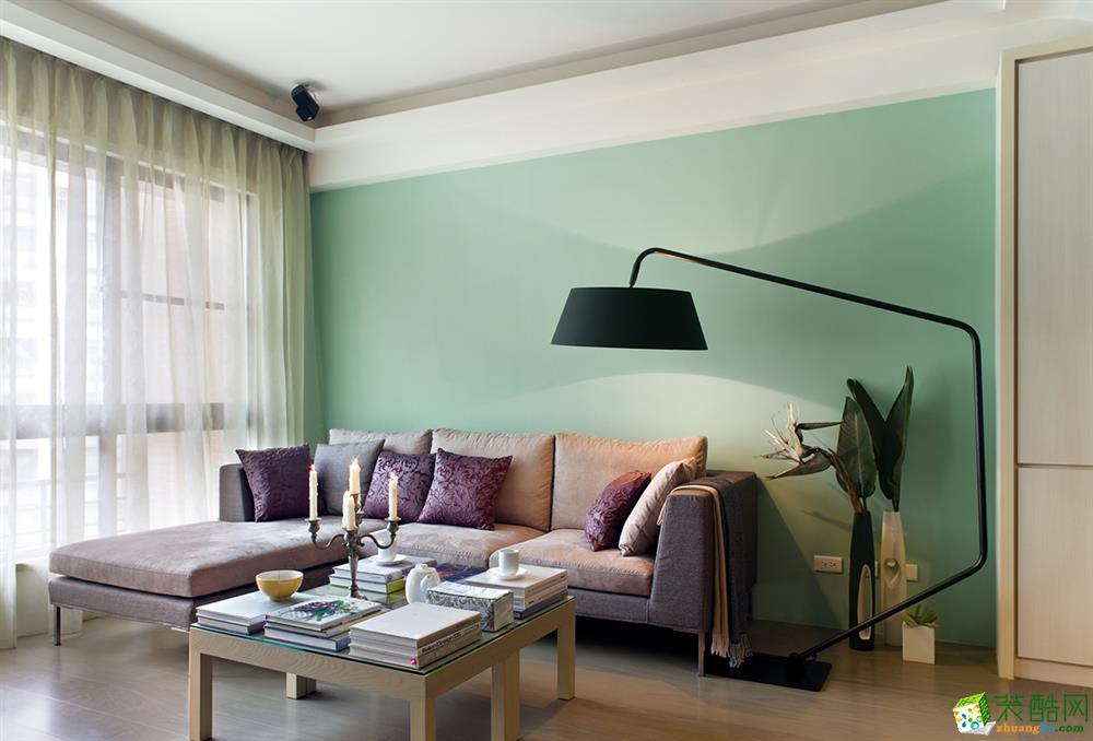 90平现代二居室装修效果图