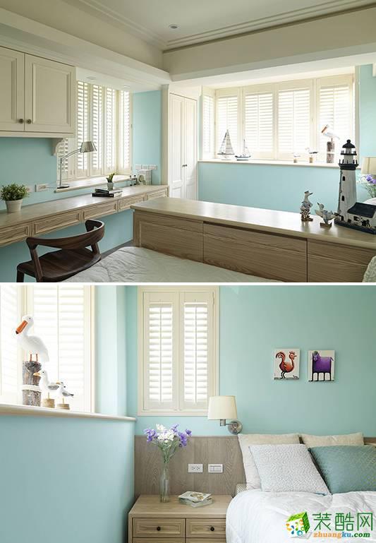 长沙洁宁装饰-美式两居室装修效果图