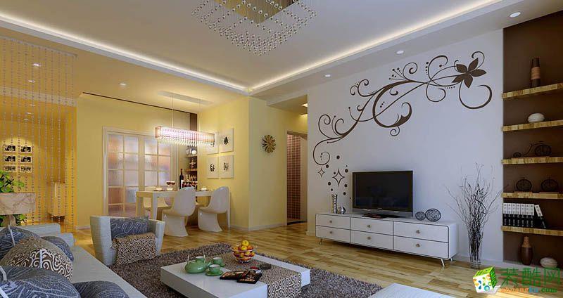 西安朗汇装饰-国宾中央区简约两居室装修效果图