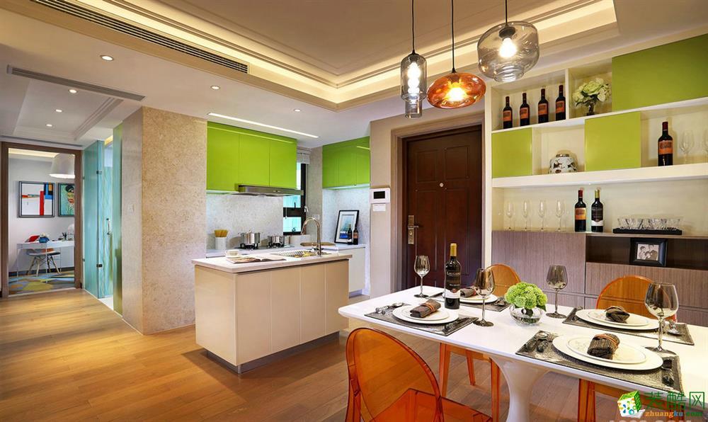 西安峰淘装饰-现代简约三居室装修效果图