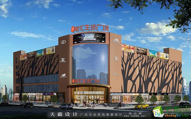 天霸设计主题式购物中心装修设计效果图文化底蕴深厚