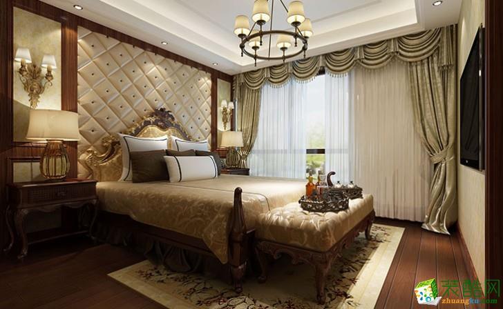 长沙三汇装饰-江河东澜湾美式三居室装修效果图