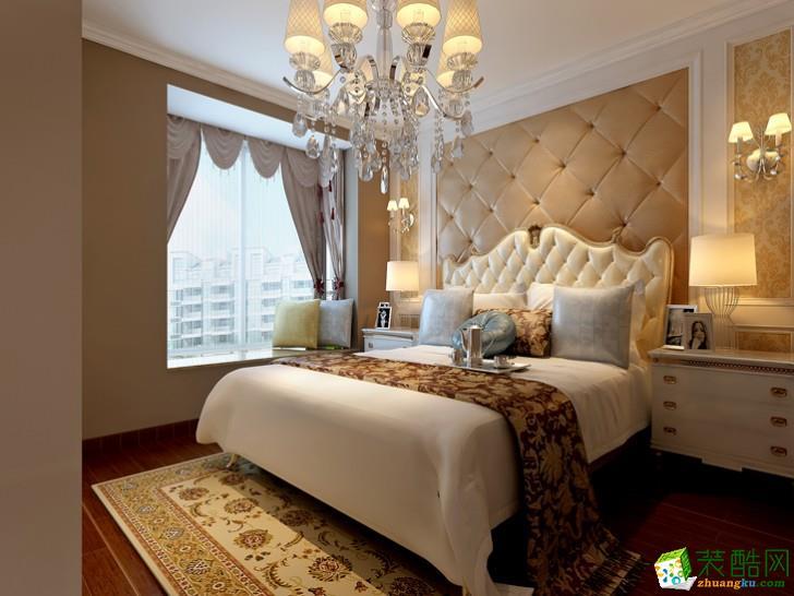 长沙三汇装饰-漫步江湾简欧两居室装修效果图