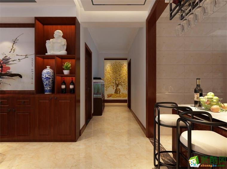 同泰公寓180平米中式风格装修效果图