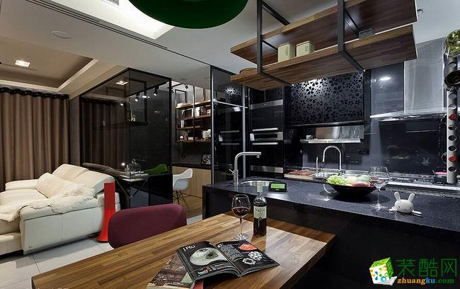 长沙名匠装饰-现代简约两居室装修效果图