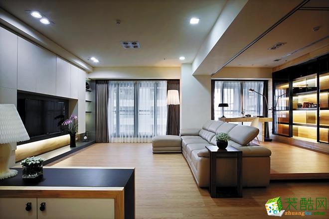 西安保艺装饰-现代简约三居室装修效果图