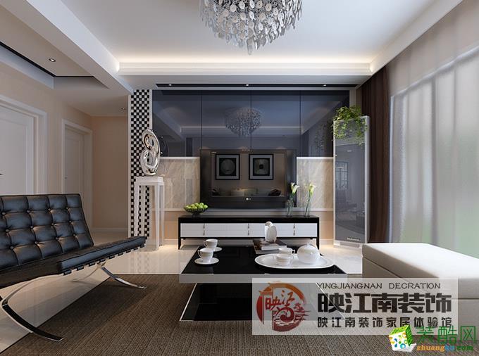 映江南装饰―恒盛皇家花园116�O现代简约风格案例