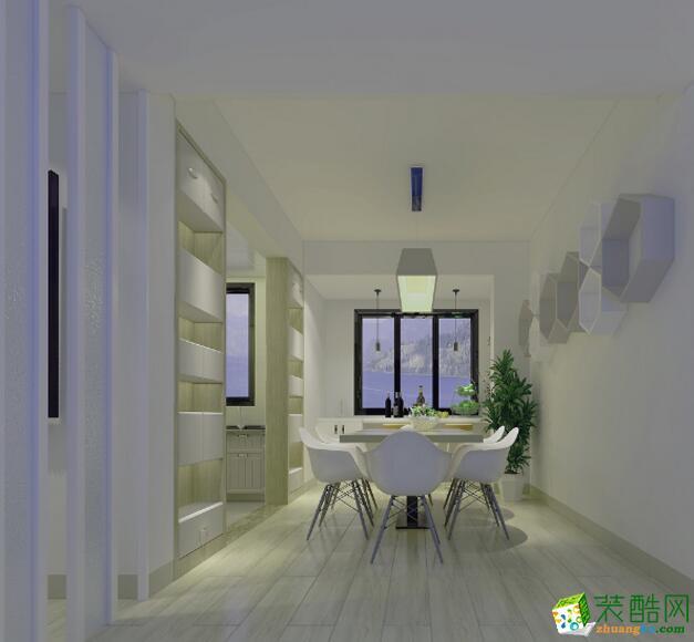 【德发装饰】新古典风格129平米三居室装修案例图