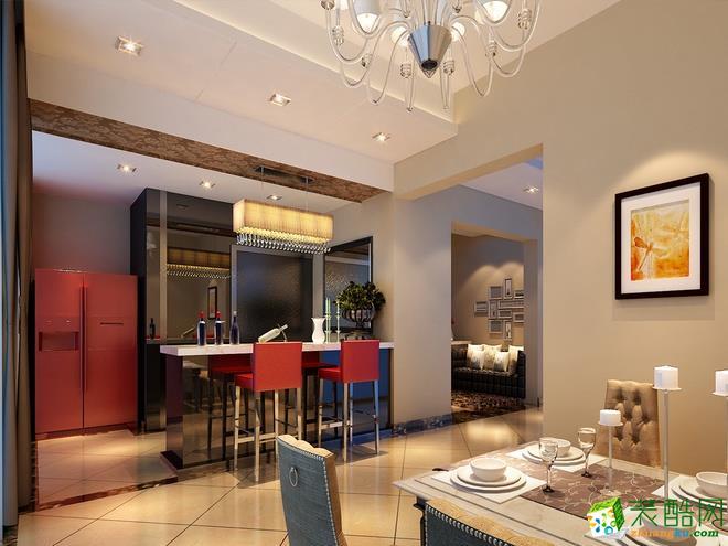 西安暖宅装饰-美式三居室装修效果图