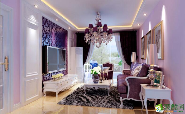 【�B鸿居装饰】86平米简欧风格两居室装修案例图