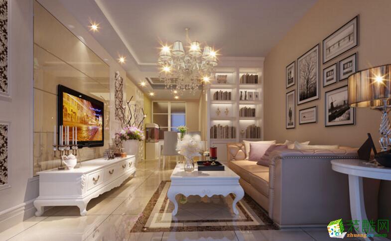 【�B鸿居装饰】简欧风格87平米两居室装修案例图
