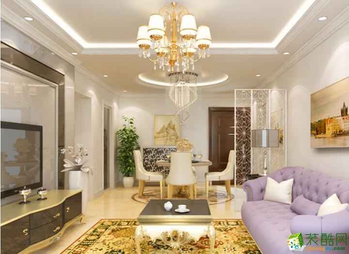 【�B鸿居装饰】简欧风格两居室装修案例图