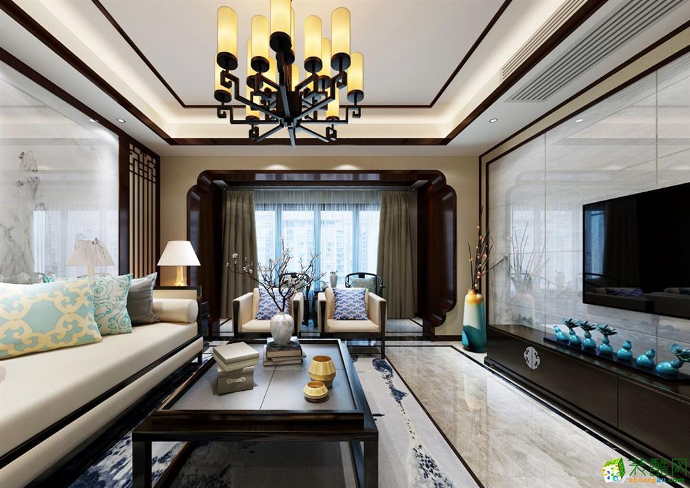 >> 170平中式三居室装修效果图-欧鹏御府图片
