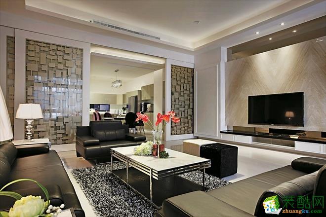 长沙点石家装-现代两居室装修效果图