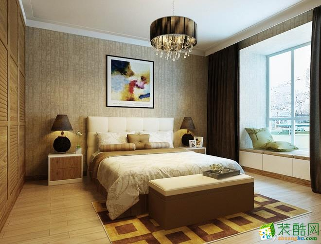 西安苹果装饰-现代简约三居室装修效果图